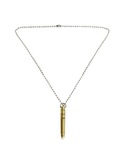 Menjewell New Collection Gold::Silver The Great Art Youth Bullet Fashion Pendant