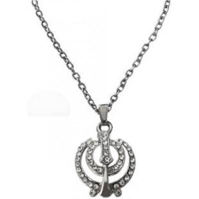 Silver  Khanda Fashion Pendant