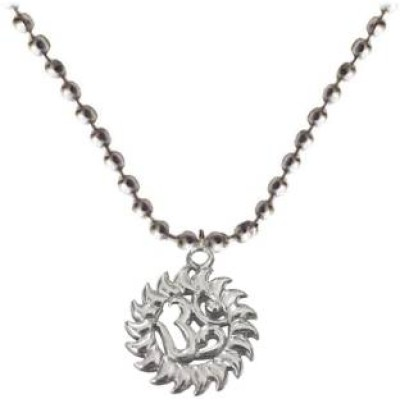 Silver  Om Surrounded Sun Fashion Pendant