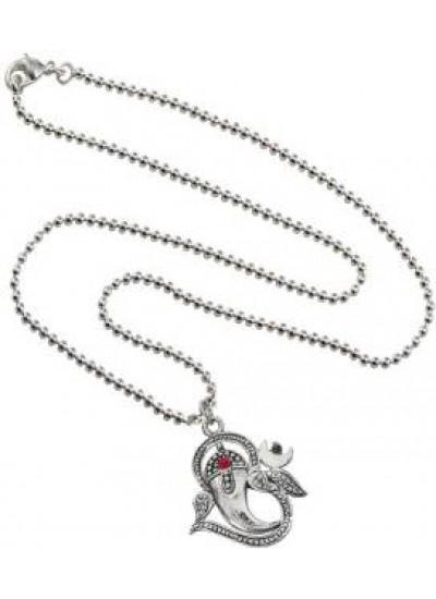 Silver  Om With Ganesha Pendant