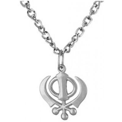 Silver  Khanda Chain Pendant
