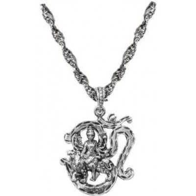 silver  Om With Durgamata Chain Pendant