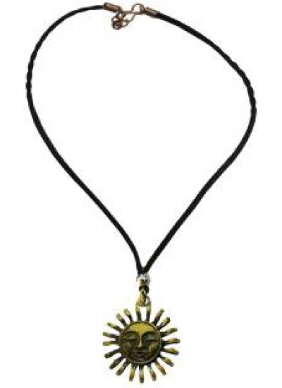 Bronze  Sun Face Fashion Chain Pendant