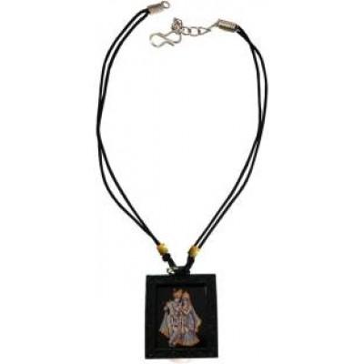 Black  Radha Krishna Chain Pendant