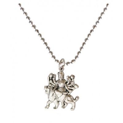 Silver  Durgamata Pendant