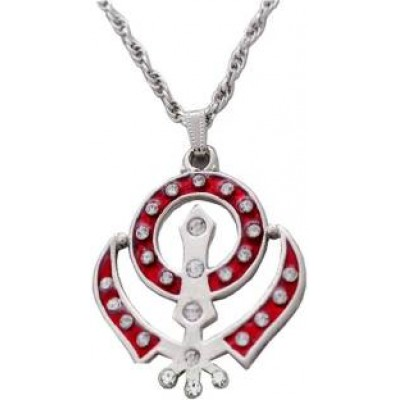 Red  Khanda Chain Pendant