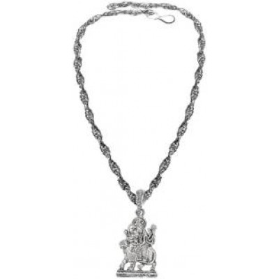 Silver  Lord Jay Santoshi Maa Pendant