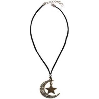 Riligious Mens Jewellery  Black::Brown  Muslim Symbols Design Pendant