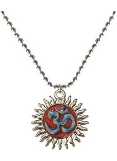 Multicolour  OM Surrounded with Sun Design Pendant