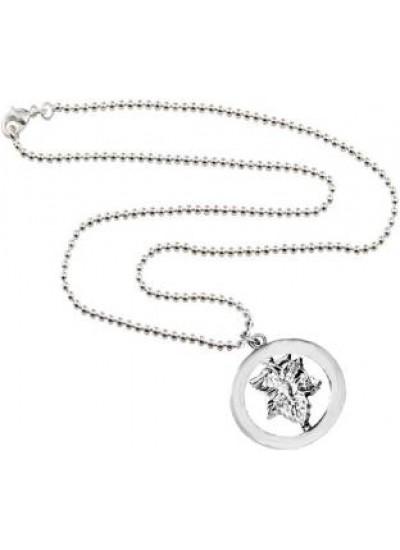 Elegant  Silver  Lord Ganesh In round Design Pendant