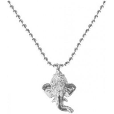 Elegant  Silver  Lord Ganesha Face Pendant