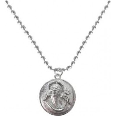 Elegant  Silver  Lord Ganesha In round Design Pendant