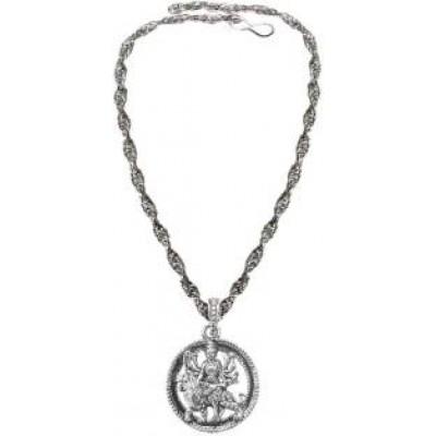 Silver  Lord Durga Mata  Pendant