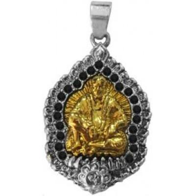 Multicolor  Lord Sai Baba Stone Studded Pendant