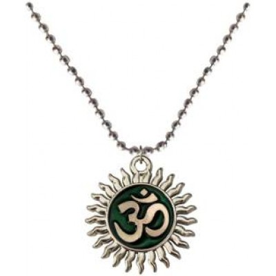 Multicolor  Two sided Om Chain Pendant