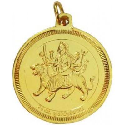 Gold  24k Two Sided Durga Bisa Yantra Pendant