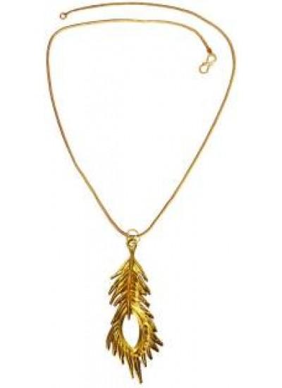 Gold  Krishna Peacock Feather Designer  Pendant
