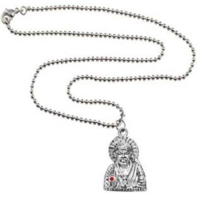 Silver::Red  Loard Sai Baba Pendant