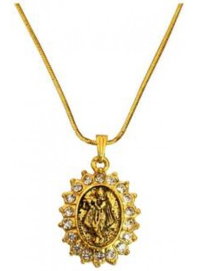 Buy designer fashionable krishna pendants for men boy we have a gold gold plated stone studded shri krishna pendant aloadofball Image collections