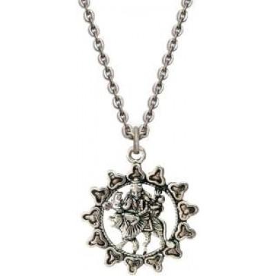 Silver  Durga Chain Pendant