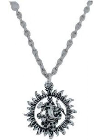 Elegant  Silver  Ganesha Pendent