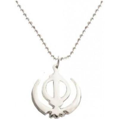 Silver  Khanda Pendent