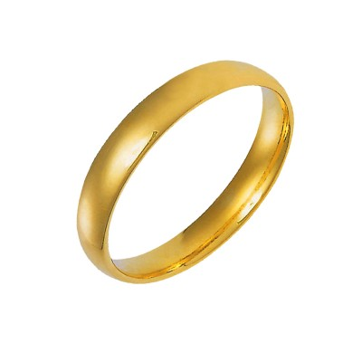 Menjewell Elegant Classic & Designer New Collection Plain Gold Plated Flat Pipe Cut Plain Design Ring