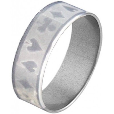 Elegant  Silver  Playing Card Fashion Thumb Ring