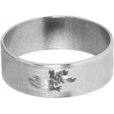 Classic   Silver  Floral Design Thumb Ring