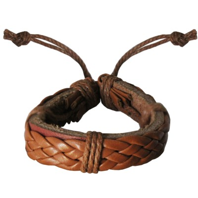Mens Fashion Beige  Braided Adjustable Fashion Bracelet