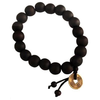 Elegant Black Wooden Bracelet