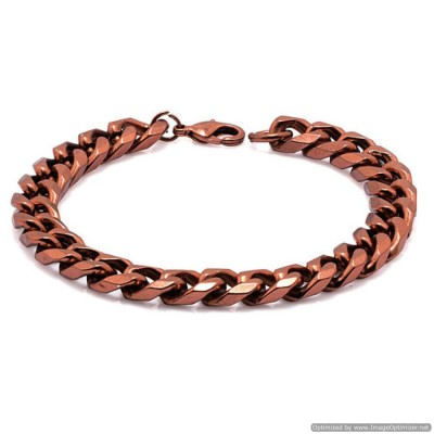 Copper  Curb Chain Fashion Brass Copper Bracelet