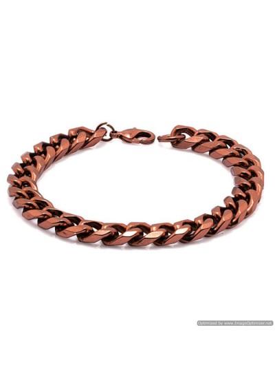 Copper  Curb Chain Fashion Brass Copper Bracelet
