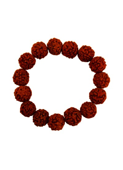 Mens Fashion Religious Jewellery Brown Panch Mukhi Rudraksha Bracelet