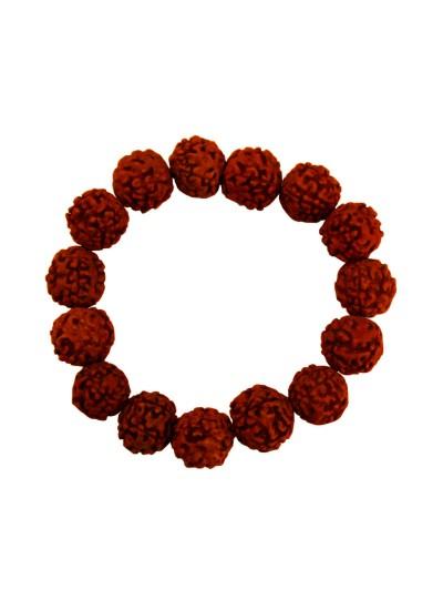 Mens Fashion Religious Jewellery Brown Panch Mukhi Rudraksha Bracelet