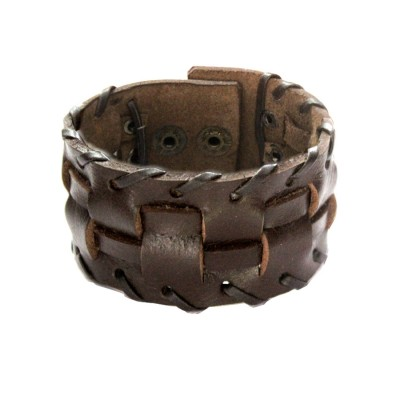 Menjewell Brown Harley Inspired Design Bracelet