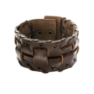 Menjewell Brown Harley Inspired Design Bracelet