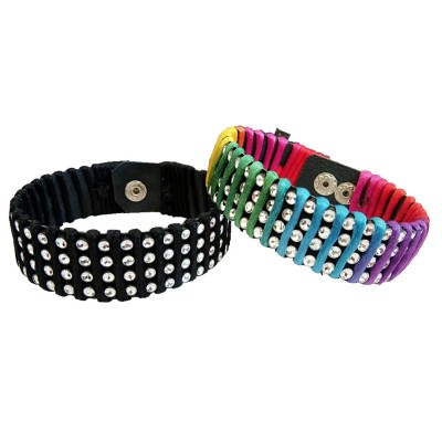 Menjewell New Classic Collection Multicolor Stylish wrist band Design Bracelet Combo For Boys & Men