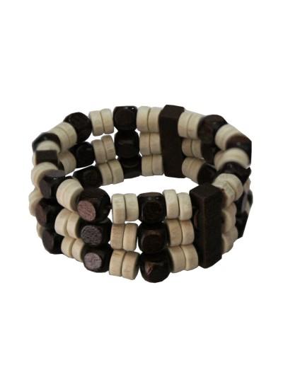Multicolour Fashion  Wood Bracelet