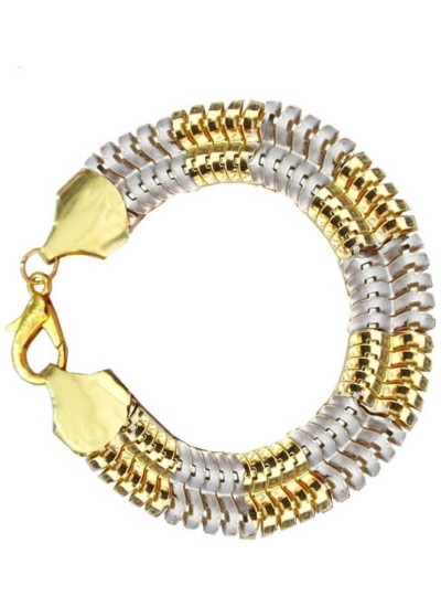 Mens jewellery  Gold::Silver  Dual Tone Link Style  Fashion Chain Bracelets