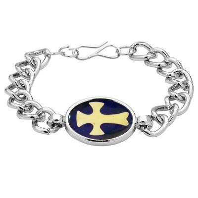 Silver  Christ Cross Fashion Bracelet