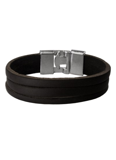 Black  Leather Fashion Bracelet