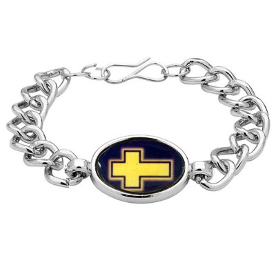 Silver Religious Christ Cross Fashion Bracelet