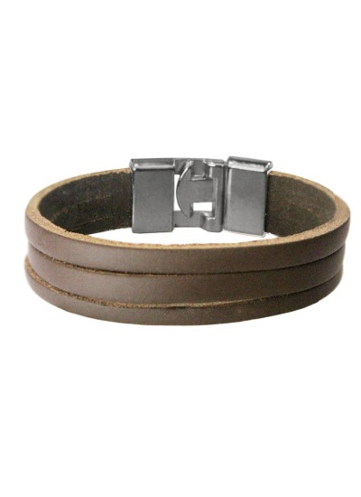 Beige Leather Band Fashion Leather Bracelet