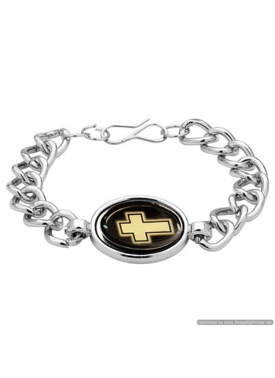 Silver Religious Christ cross Fashion Bracelet