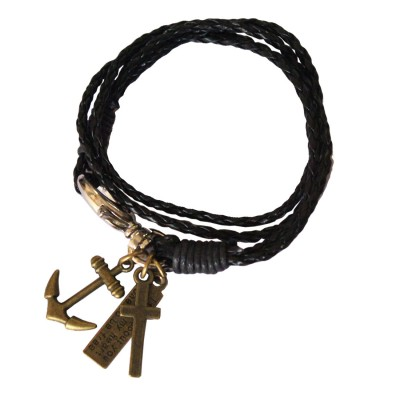 Black  Wrist Wrap Charm Fashion Bracelet