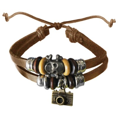 Beige  Camera Charm Fashion Bracelet