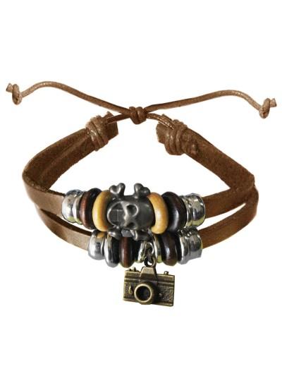 Beige  Camera Charm Fashion Bracelet