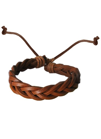 Mens Jewellery  Brown  Adjustable woven Fashion Leather Bracelets
