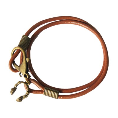 Multilayer Charm Orange Fashion Leather Bracelet